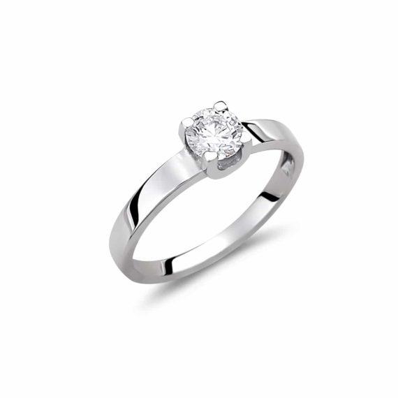 Μενταγιόν Λευκόχρυσο Με Ζιργκόν 003012 Jewelor