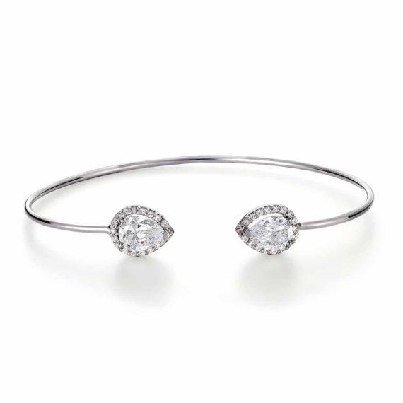 Μοντέρνο Δαχτυλίδι Λευκόχρυσο Με Ζιργκόν 003024 Jewelor