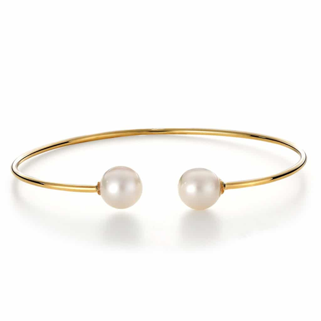 Μοντέρνο Βραχιόλι Χρυσό Με Μαργαριτάρι 003021 Jewelor