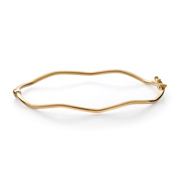 Μοντέρνο Βραχιόλι Κύμα Χρυσό 003055 Jewelor