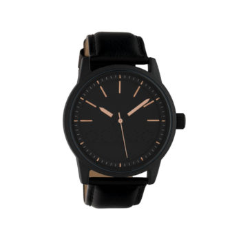 OOZOO Timepieces Black Leather Strap Men's Watch – C10308