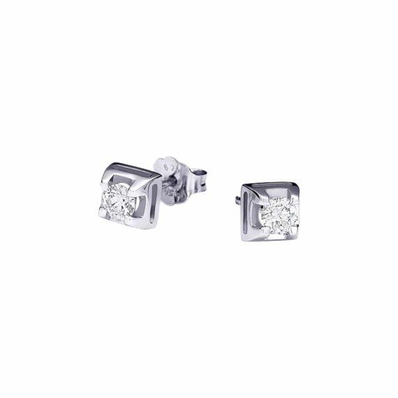 Τετράγωνα Διαμαντένια Καρφωτά Σκουλαρίκια 002998