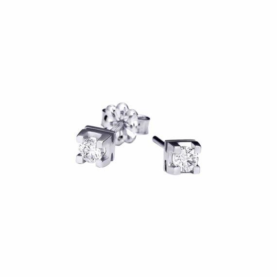 Τετράγωνα Διαμαντένια Καρφωτά Σκουλαρίκια 003000