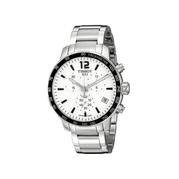 T095.417.11.037.00 Tissot T Sport Quickster Silver Black Chronograph Men's Watch Jewelor