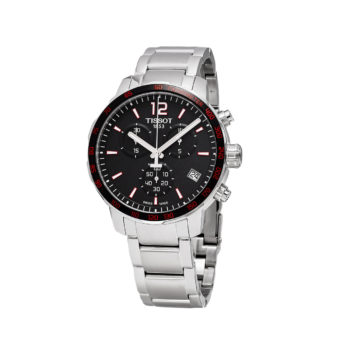 Tissot T-Sport Quickster Silver-Black-Red Chronograph Men's Watch
