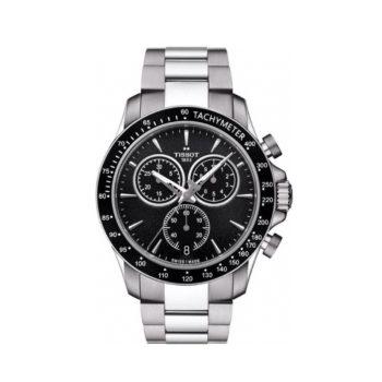 Tissot V8 Black-Silver Chronograph Men's Watch – T106.417.11.051.00
