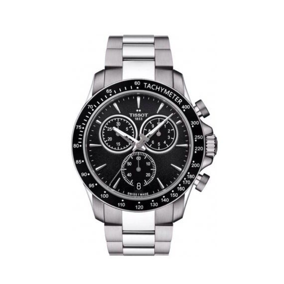 T106.417.11.051.00 Tissot V8 Black Silver Chronograph Men's Watch Jewelor