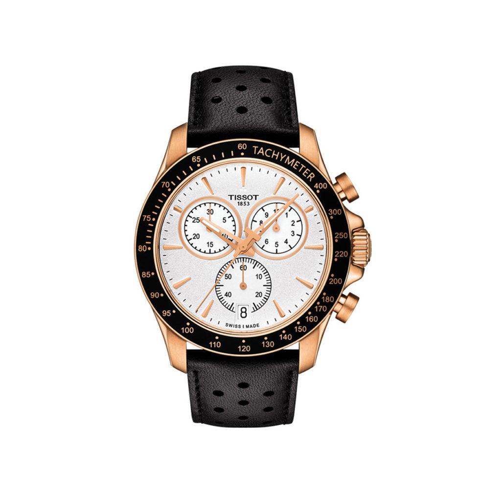 T106.417.36.031.00 Tissot T Sport V8 Black Rose Gold Chronograph Men's Watch Jewelor