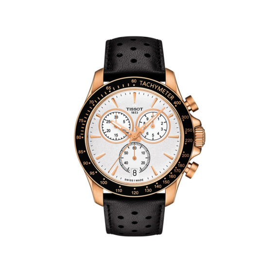 T106.417.36.031.00 Tissot T Sport V8 Black Rose Gold Chronograph Men's Watch Jewelor