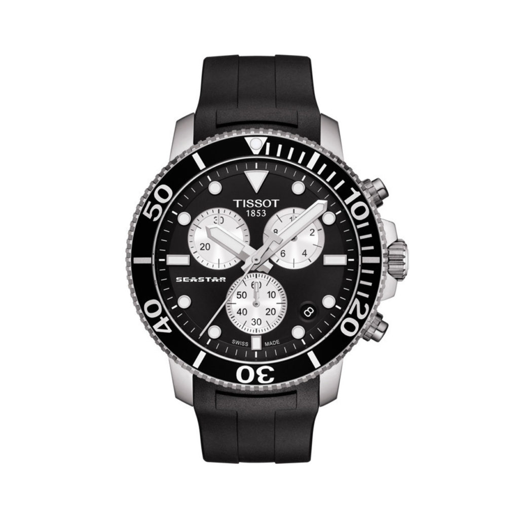 T120.417.17.051.00 Tissot Seastar 1000 Silver Black Men's Watch Jewelor