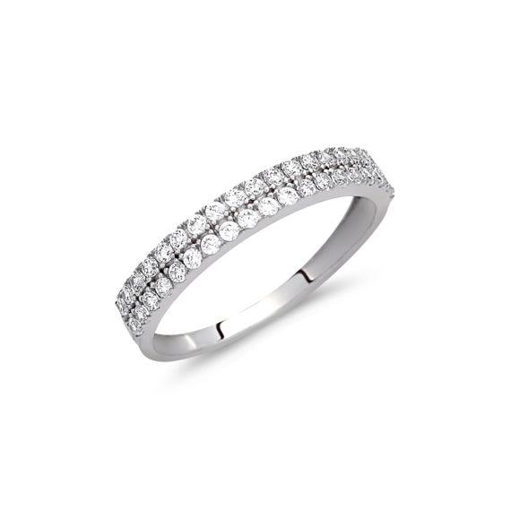 Δαχτυλίδι Σειρέ Λευκόχρυσο Με Ζιργκόν 003060 Jewelor