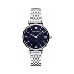 Emporio Armani Gianni T-Bar Silver Women's Watch