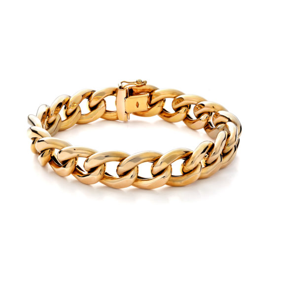 Κλασικό Βραχιόλι Αλυσίδα Χρυσό 003079 Jewelor