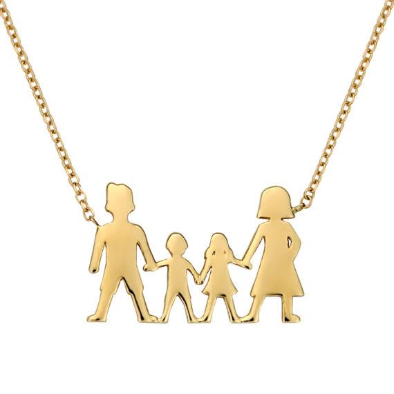 Κρεμαστό Οικογένεια Χρυσό 003064 Jewelor