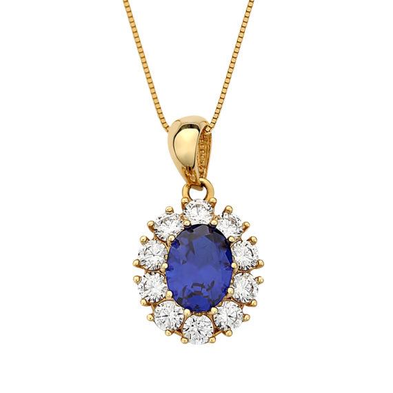 Κρεμαστό Ροζέτα Χρυσό Με Ζιργκόν 003071 Jewelor