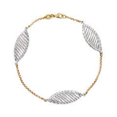 Μοντέρνο Βραχιόλι-DNA Χρυσό Και Λευκόχρυσο