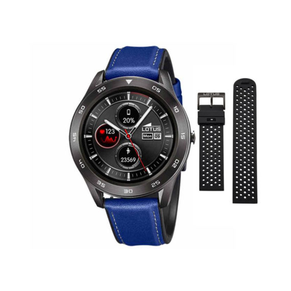 Smartwatch Lotus Smartime Black Blue Men's Watch 50012 2 Jewelor