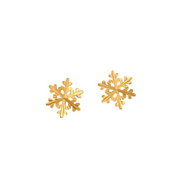 Καρφωτά Σκουλαρίκια Νιφάδες Χρυσά 003112 Jewelor