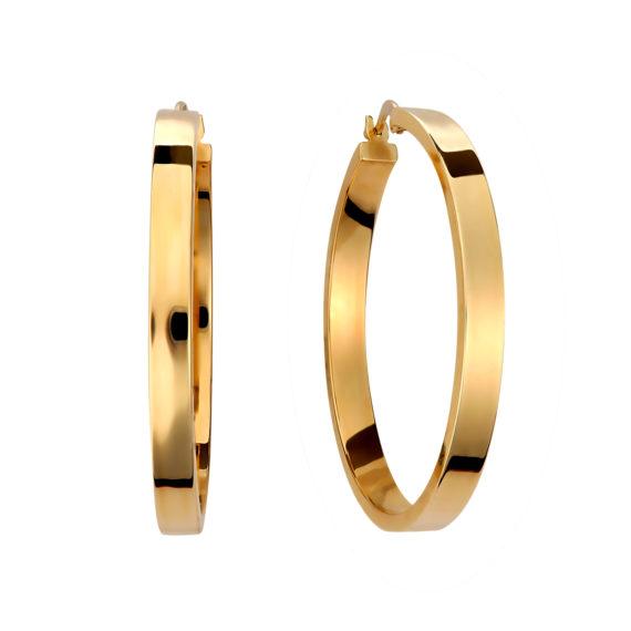 Κρεμαστά Σκουλαρίκια Κρίκοι Μεγάλοι Χρυσά 003109 Jewelor