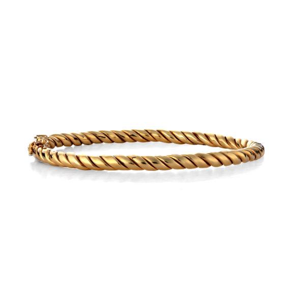 Βραχιόλι Ανάγλυφο Χρυσό 003111 Jewelor