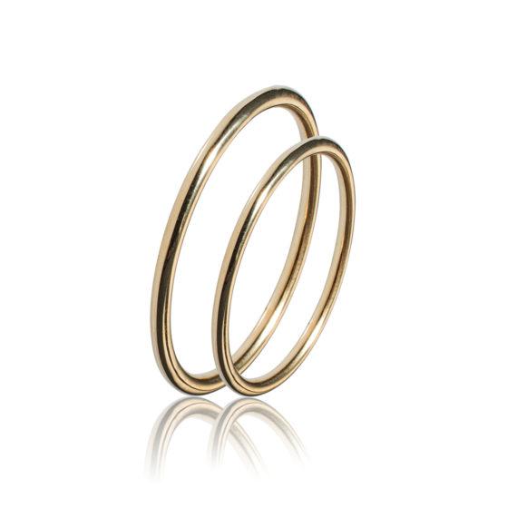 Βέρες Maschio Femmina Σειρά Sottile Κλασικές Χρυσές SL54 Jewelor