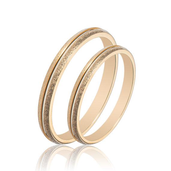 Βέρες Maschio Femmina Σειρά Sottile Κλασικές Σφυρήλατες Χρυσές SL82 Jewelor