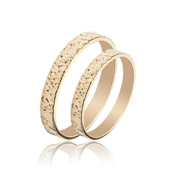 Βέρες Maschio Femmina Σειρά Sottile Κλασικές Σκαλιστές Χρυσές SL31 Jewelor
