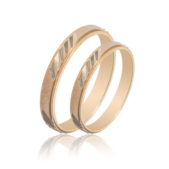 Βέρες Maschio Femmina Σειρά Sottile Μοντέρνες Δίχρωμες Ζαγρέ SL65 Jewelor