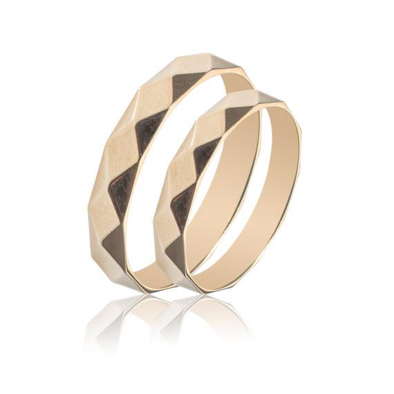 Βέρες Maschio Femmina Σειρά Sottile Μοντέρνες Σφυρήλατες Χρυσές SL70 Jewelor