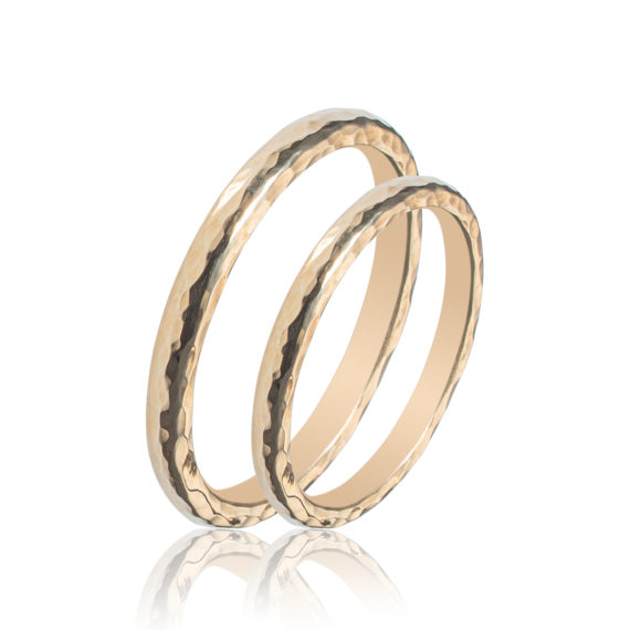 Βέρες Maschio Femmina Σειρά Sottile Μοντέρνες Σκαλιστές Χρυσές SL55 Jewelor