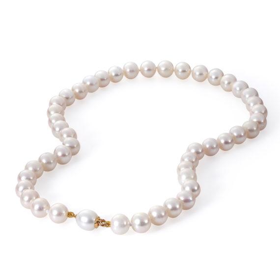 Μαργαριταρένιο Κολιέ Με Χρυσό Κούμπωμα 003115 Jewelor