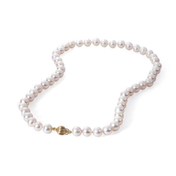 Μαργαριταρένιο Κολιέ Με Χρυσό Κούμπωμα 003127 Jewelor