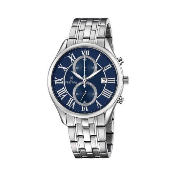 Festina Timeless Chronograph Silver Men's Watch F6854 5 Jewelor