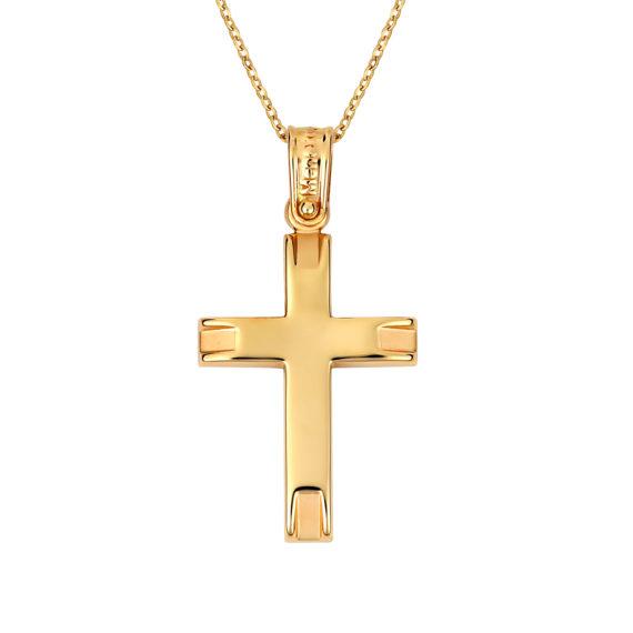 Σταυρός Σφυρήλατος Χρυσός 14Κ 003130 Jewelor