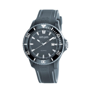 AM:PM Club Grey Rubber Strap Men's Watch PM191-G491