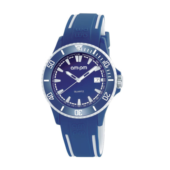 AM PM Club Two Tone Rubber Strap Men's Watch PM191 U504