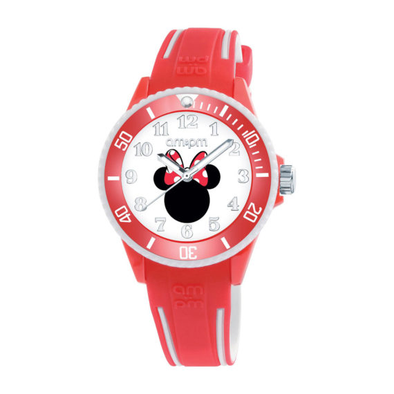 AM PM Disney Minnie Red Rubber Strap Kids' Watch DP187 U472