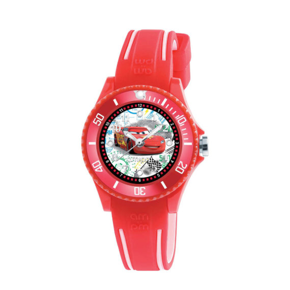 AM PM Disney Red Rubber Strap Kids' Watch DP186 K476