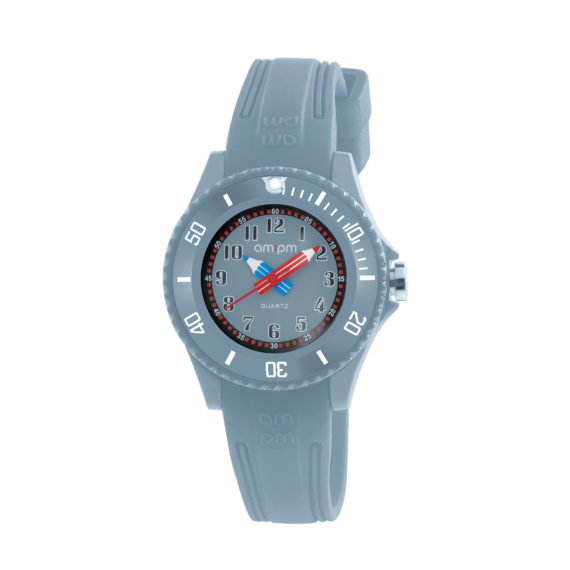 AM PM Grey Rubber Strap Men's Watch PM192 K508