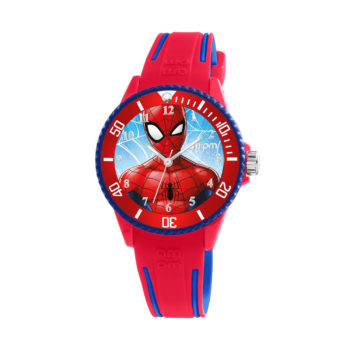 AM:PM Marvel Spiderman Red Rubber Strap Kids' Watch MP187-U624