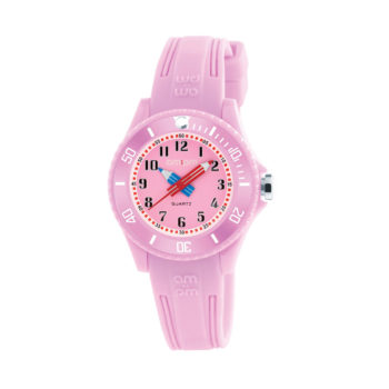 AM:PM Pink Rubber Strap Kids' Watch PM192-K513