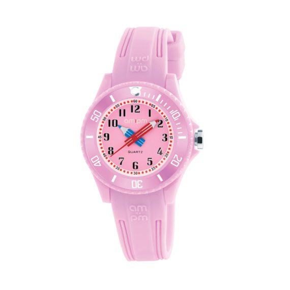 AM PM Pink Rubber Strap Kids' Watch PM192 K513