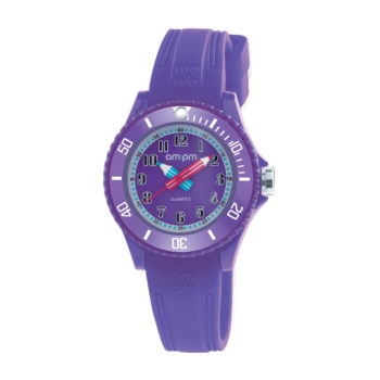 AM:PM Purple Rubber Strap Kids' Watch PM192-K520