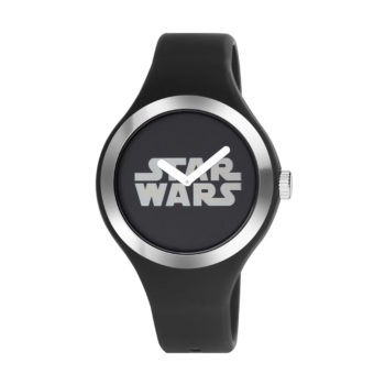 AM:PM Star Wars Black Rubber Strap Men's Watch SP161-U389