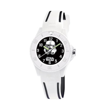 AM:PM Star Wars White Rubber Kids' Watch SP190-K488
