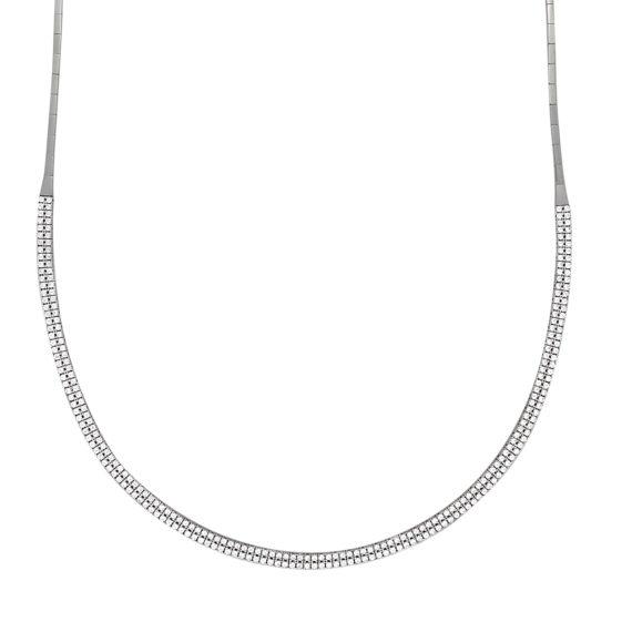 Μακρύ Κολιέ Αλυσίδα Λευκόχρυσο Με Διπλή Σειρά Ζιργκόν 14Κ 003160 Jewelor