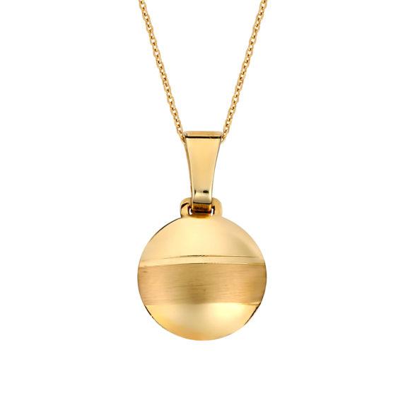 Κρεμαστό Σφαιρικό Χρυσό Ματ Και Γυαλιστερό 14Κ 003184 Jewelor