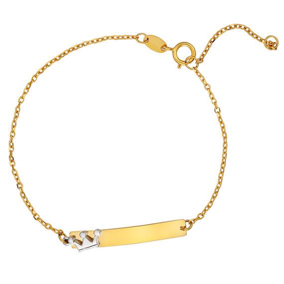 Βραχιόλι Αλυσίδα Με Ματάκι Και Κορώνα Χρυσό 14Κ 003175 Jewelor