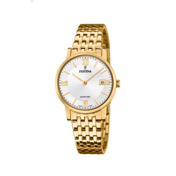 Festina Montre Femme Swiss Made Gold Women's Watch F20021 1 Jewelor