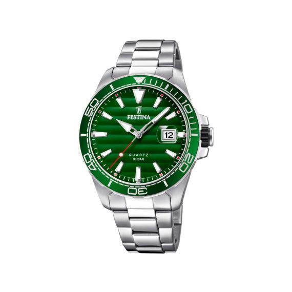 Festina Sports Silver Green Men's Watch F20360 3 Jewelor